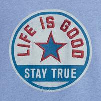 Men's Stay True Star Patch Simply True Crew