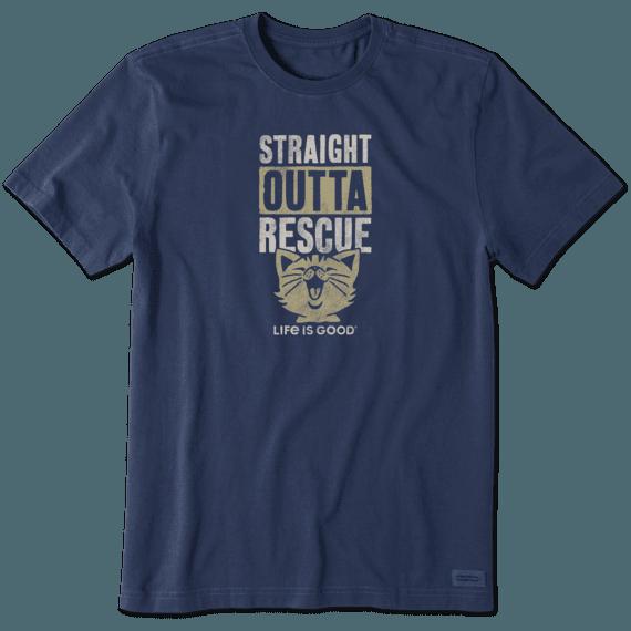 Men's Straight Outta Rescue Cat Crusher Tee