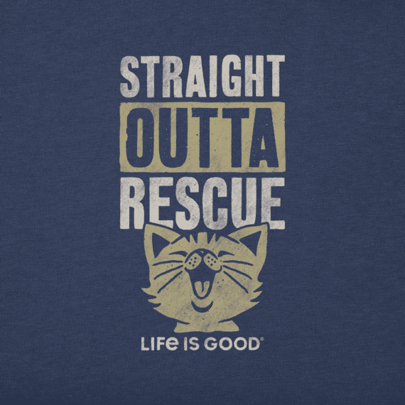 Men's Straight Outta Rescue Cat Crusher Tee