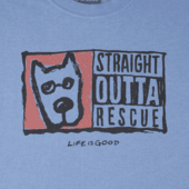 Men's Straight Outta Rescue Long Sleeve Crusher Tee