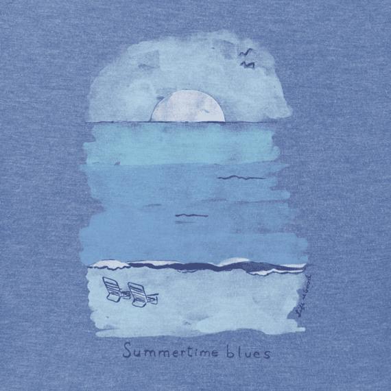 Men's Summertime Blues Crusher Tee