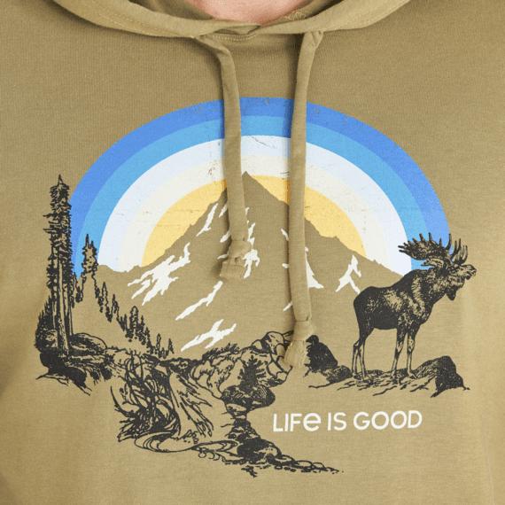 Men's Sunbow Moose Long Sleeve Hooded Crusher
