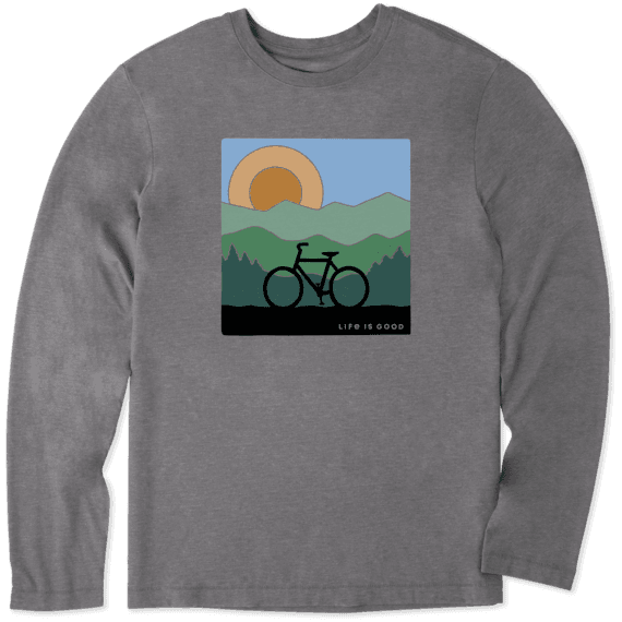 Men's Sunrise Bike Long Sleeve Cool Tee