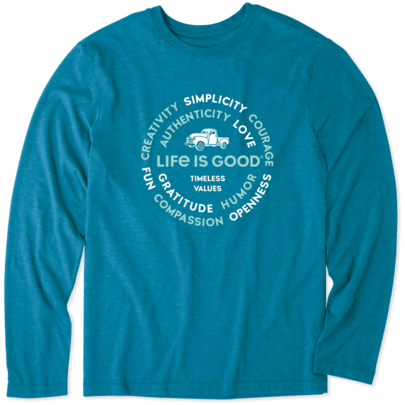Men's Superpower Circle Truck Long Sleeve Cool Tee