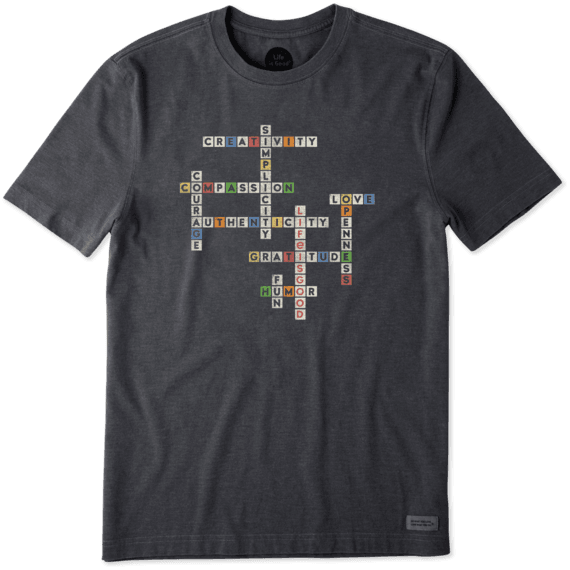 Men's Superpower Crossword Crusher Tee