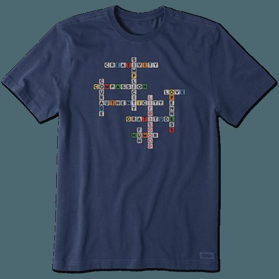 Men's Superpower Crossword Crusher Tee