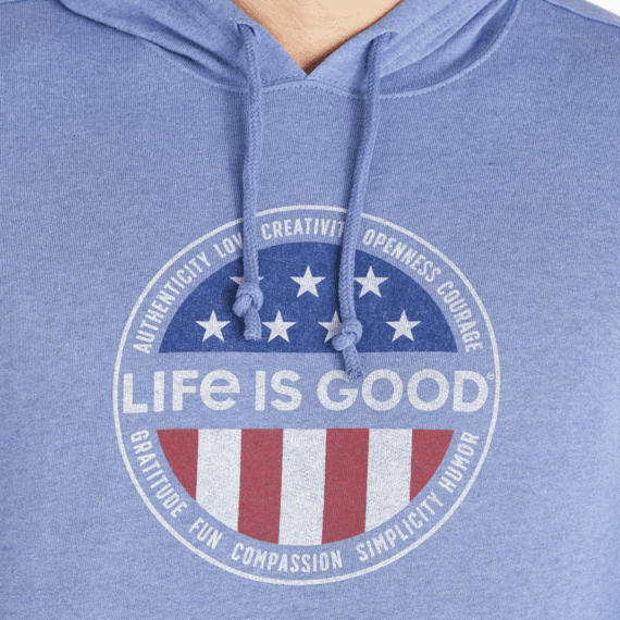 Men's Superpowers Flag Simply True Hoodie