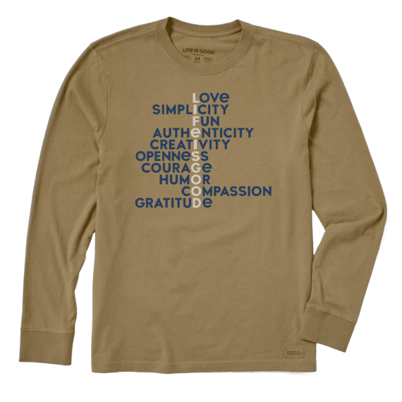 Men's Superpowers Manifesto Long Sleeve Crusher Tee