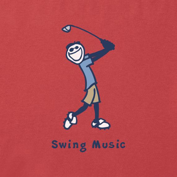 Men's Swing Music Vintage Crusher Tee