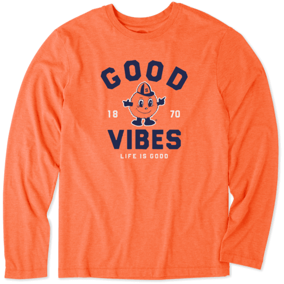 Men's Syracuse Good Vibes Arc Long Sleeve Cool Tee