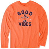 Men's Syracuse Good Vibes Arc Long Sleeve Cool Tee