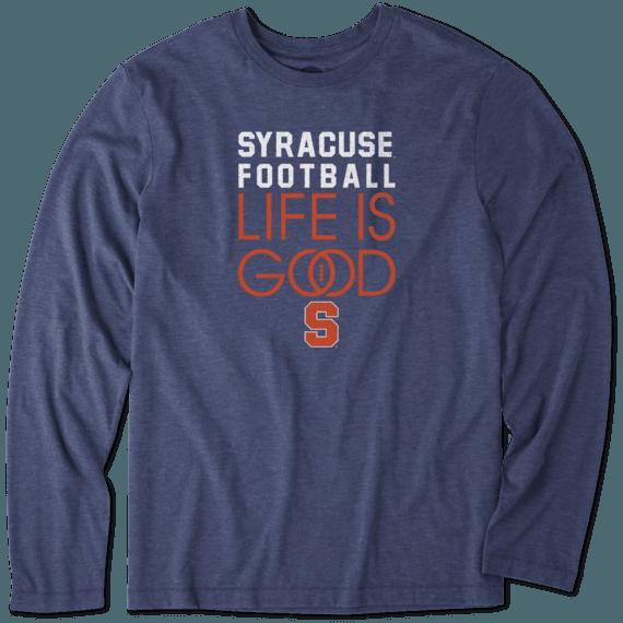 Men's Syracuse Infinity Football Long Sleeve Cool Tee