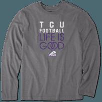 Men's TCU Horned Frogs Infinity Football Long Sleeve Cool Tee