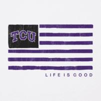 Men's TCU Horned Frogs Team Flag Cool Tee