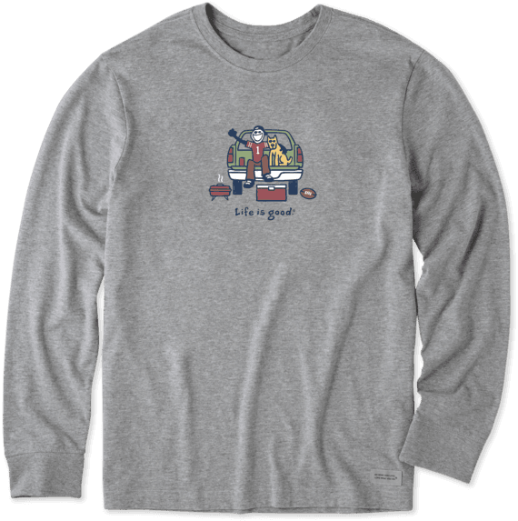 Men's Tailgate Football Long Sleeve Vintage Crusher Tee