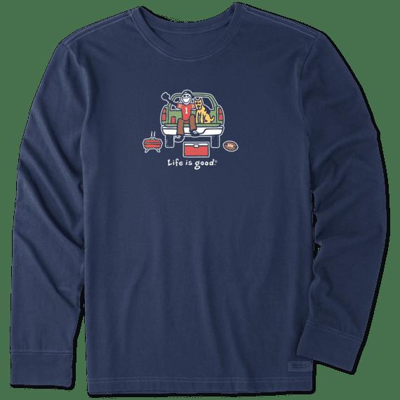 Men's Tailgate Football Long Sleeve Vintage Crusher Tee