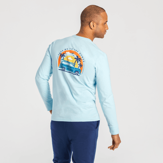 Men's Take Me to the Ocean Vehicle Long Sleeve Crusher Tee