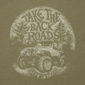 Men's Take The Back Roads Cool Tee