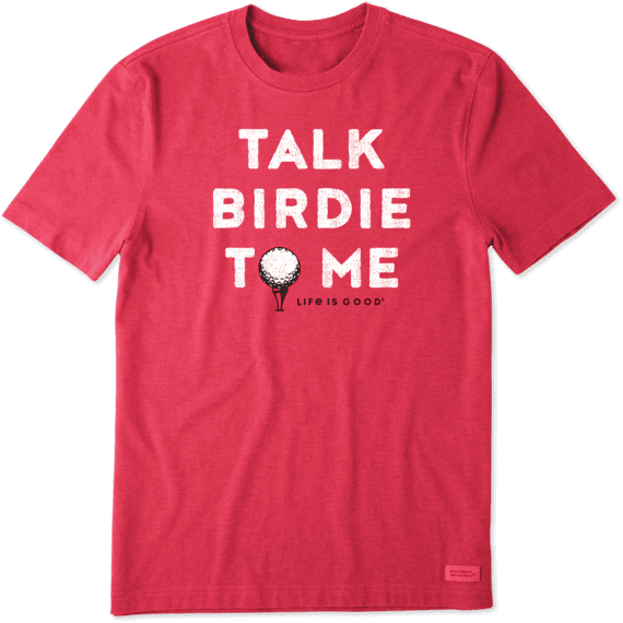 Men's Talk Birdie To Me Crusher Tee