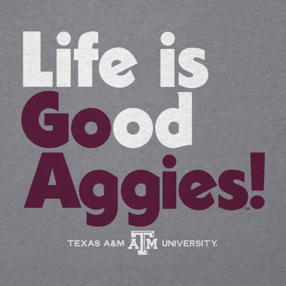 Men's Texas A&M Life is Good Long Sleeve Cool Tee