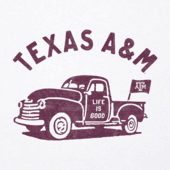 Men's Texas A&M Vintage Truck Cool Tee