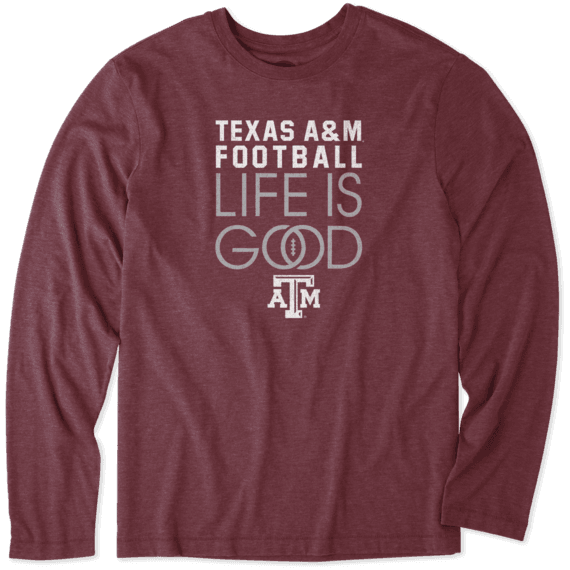 Men's Texas A&M Aggies Infinity Football Long Sleeve Cool Tee