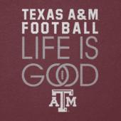 Men's Texas A&M Aggies Infinity Football Long Sleeve Cool Tee