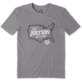 Men's Texas A&M Aggies Nation Outline Cool Tee