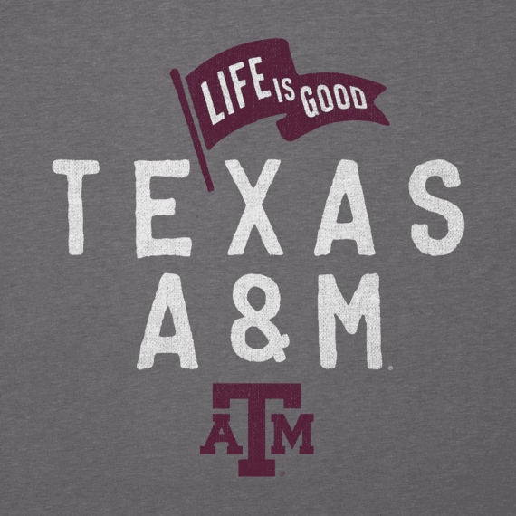 Men's Texas A&M Aggies Pennant Long Sleeve Cool Tee