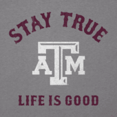 Men's Texas A&M Aggies Stay True Long Sleeve Cool Tee