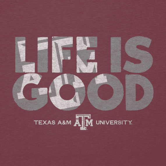 Men's Texas A&M Life is Good Cool Tee