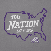 Men's Texas Christian Horned Frogs Nation Outline Cool Tee