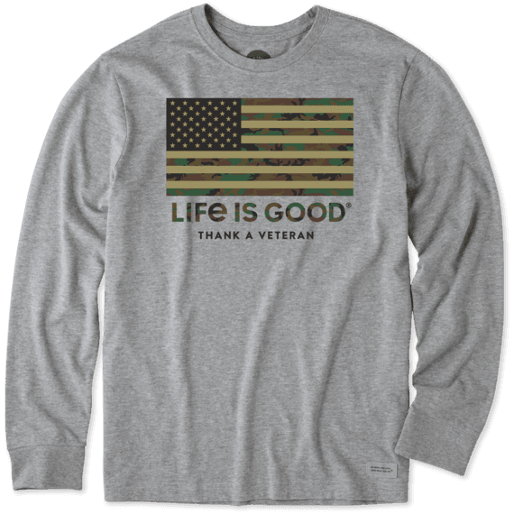 Life is Good Crusher Tee Thank You Veterans
