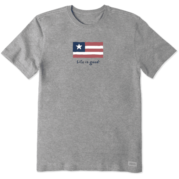 Men's Three Stripe Flag Vintage Crusher Tee