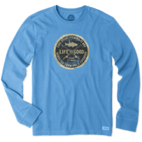 Men's Time Spent Fishing Long Sleeve Crusher Tee