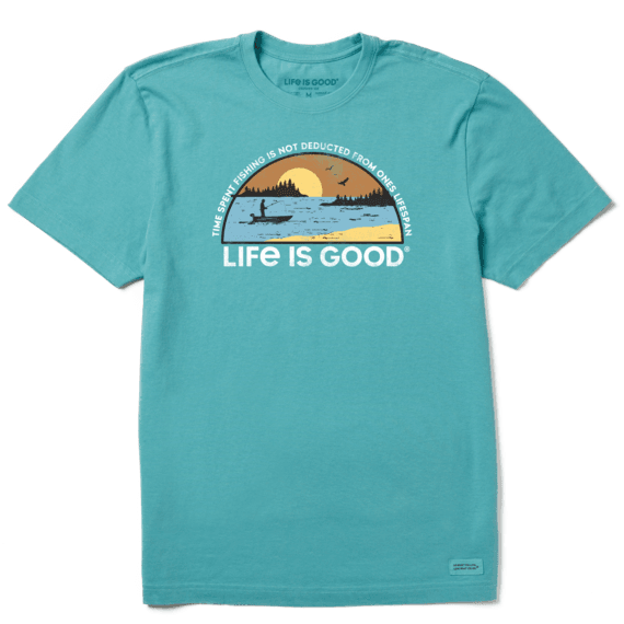Men's Time Spent Fishing Landscape Crusher Tee