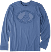 Men's Todays Bear Long Sleeve Crusher Tee