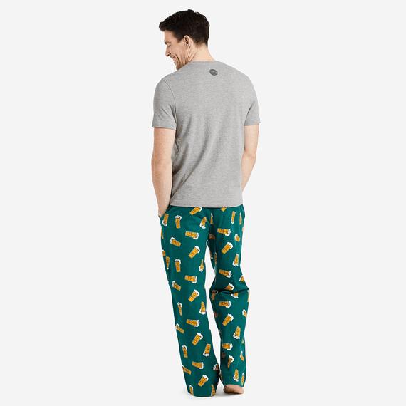 Men's Tossed Beer Pints Classic Sleep Pants