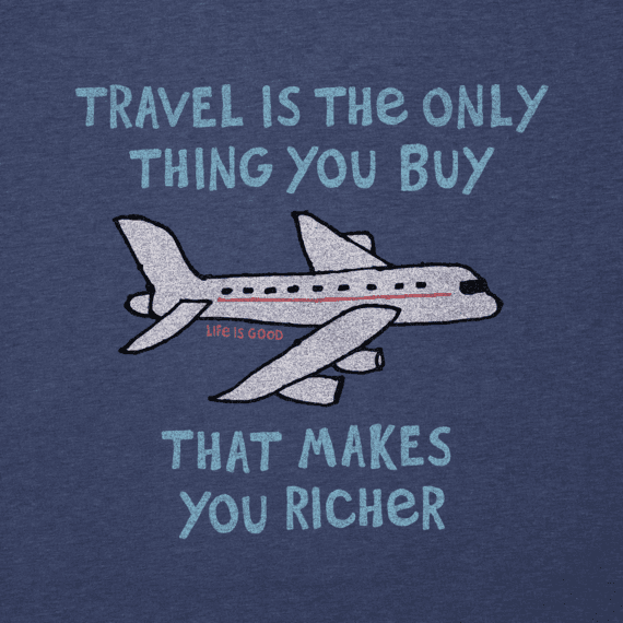 Men's Travel Makes You Richer Cool Tee