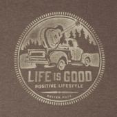 Men's Truck Coin Life Is Good Long Sleeve Crusher Tee