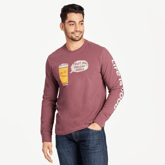Men's Trust Me, Beer Long Sleeve Crusher Tee