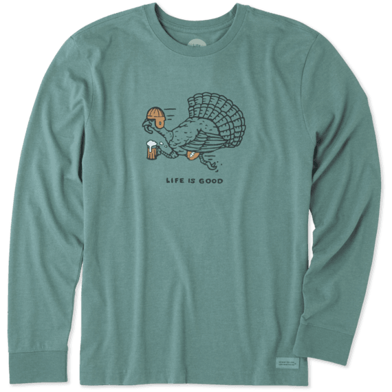 Men's Turkey Run Long Sleeve Crusher Tee