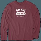 Men's UMass Team Pill Long Sleeve Cool Tee