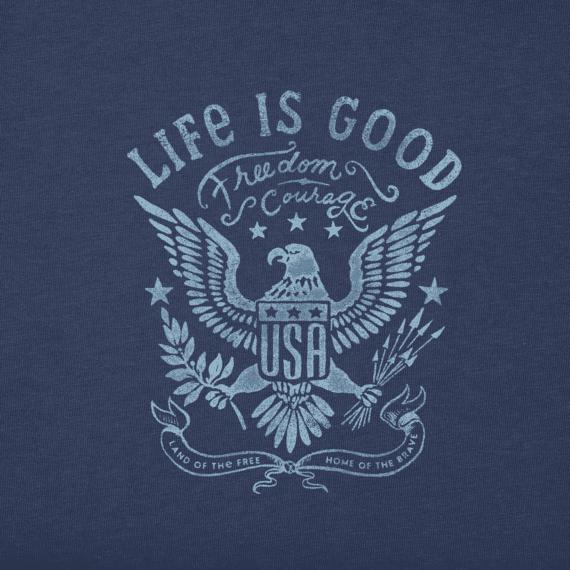 Men's USA Eagle Long Sleeve Crusher Tee   Life is Good