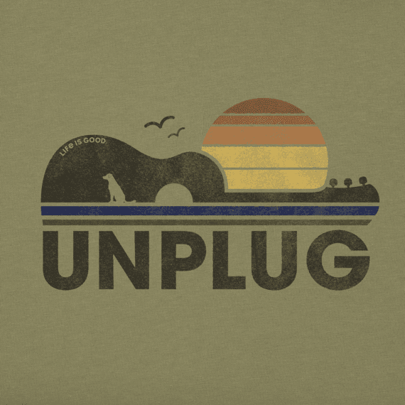 Men's Unplug Guitar Sun Crusher Tee