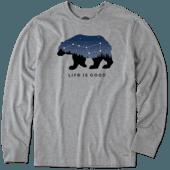 Men's Ursa Major Bear Long Sleeve Crusher Tee