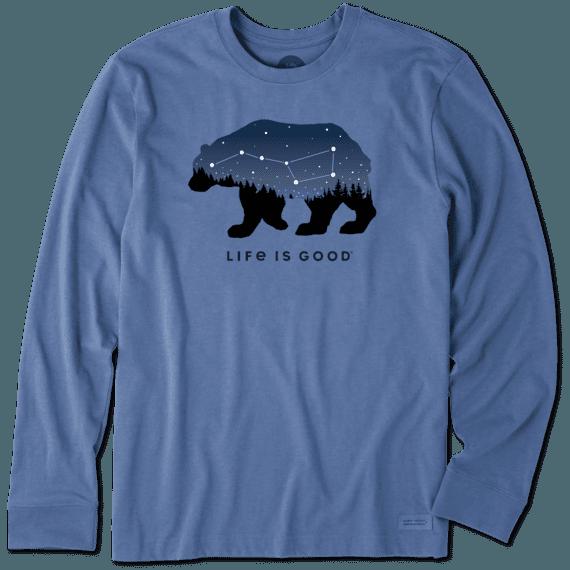 11e97a289 Sale Men's Ursa Major Bear Long Sleeve Crusher Tee | Life is Good® Official  Site