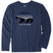 Men's Ursa Major Bear Long Sleeve Crusher Tee