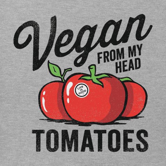 Men's Vegan From My Head Tomatoes Crusher Tee