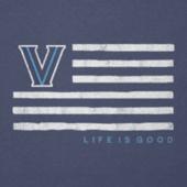 Men's Villanova Flag Cool Tee